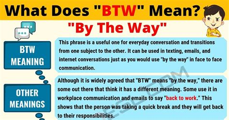 BTW Meaning: What Does BTW Mean? Useful Text Conversations