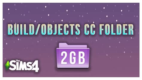 The Sims 4 BUILD/OBJECTS CC FOLDER 2GB- FREE DOWNLOAD