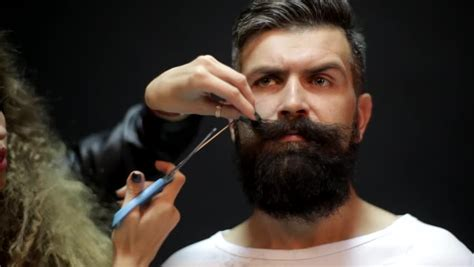 Men's Hairstyling And Haircutting In A Barber Shop Or Hair